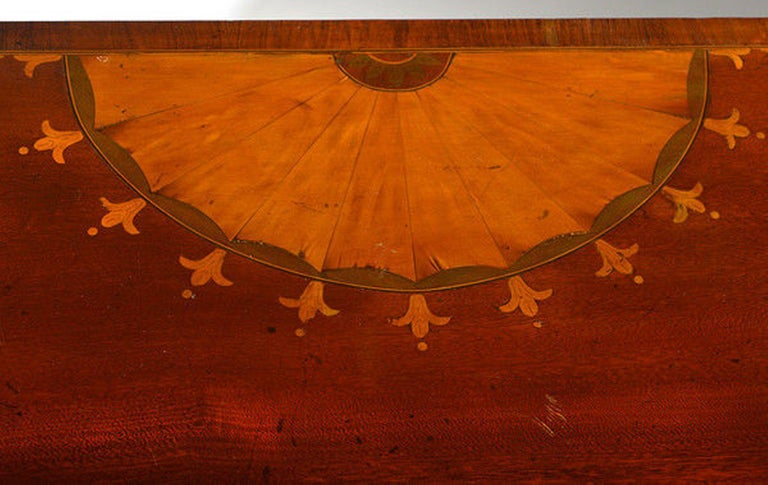 Late 19th Century Mahogany and Satinwood Marquetry Demilune Sideboard For Sale 3