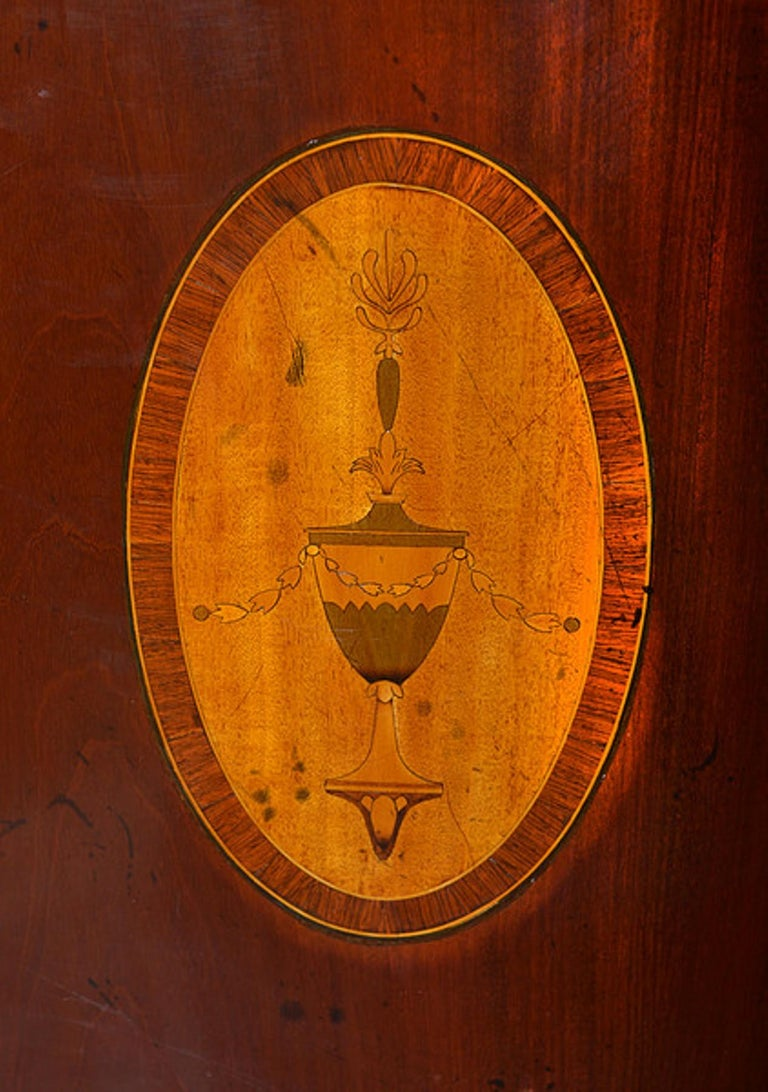 Late 19th Century Mahogany and Satinwood Marquetry Demilune Sideboard For Sale 4