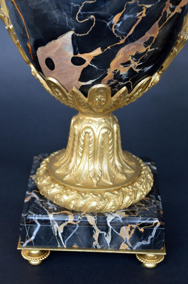 Late 19th Century Marble and Bronze Vases For Sale 4