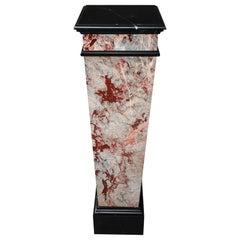 Late 19th Century Marble Veneer Pedestal