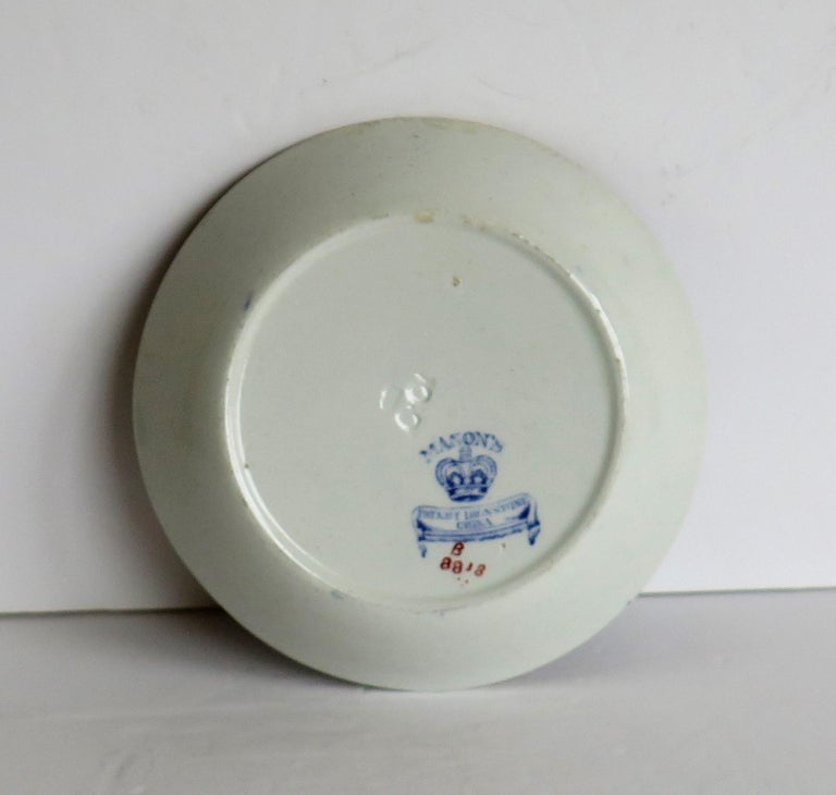 Late 19th Century Mason's Ironstone Small Dish or Pin Tray Water Lily Pattern For Sale 5