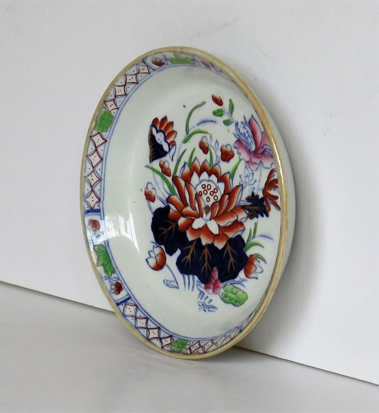 Late 19th Century Mason's Ironstone Small Dish or Pin Tray Water Lily Pattern For Sale 1