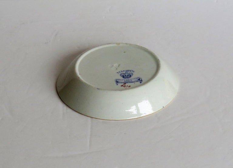 Late 19th Century Mason's Ironstone Small Dish or Pin Tray Water Lily Pattern For Sale 3