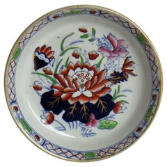 Late 19th Century Mason's Ironstone Small Dish or Pin Tray Water Lily Pattern