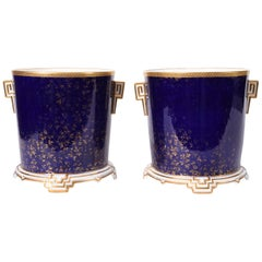 Late 19th Century Matching Pair of English Wedgwood Wine Coolers