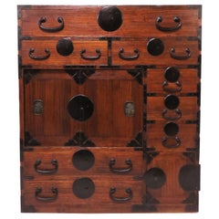 Late 19th Century Meiji Era Tansu Chest