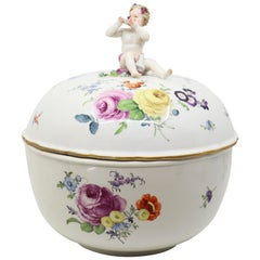 Late 19th Century, Meissen Porcelain Bowl with Lid, German