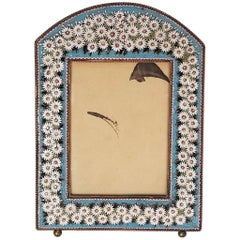 Late 19th Century Micro Mosaic Brass Picture Frame