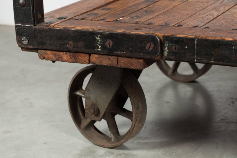 Late 19th Century Midwestern Train Depot Luggage Cart For Sale 3