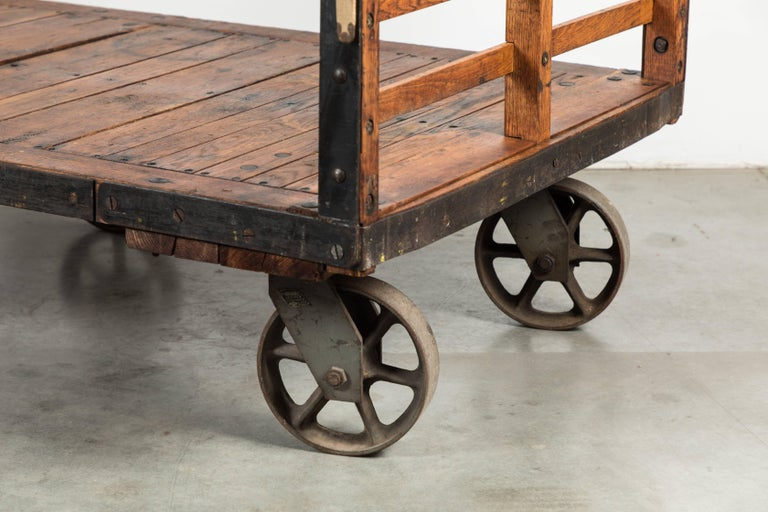 Late 19th Century Midwestern Train Depot Luggage Cart In Good Condition For Sale In Santa Monica, CA