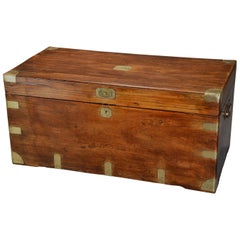 Late 19th Century Military Camphor Wood Travelling Trunk of Good Patina