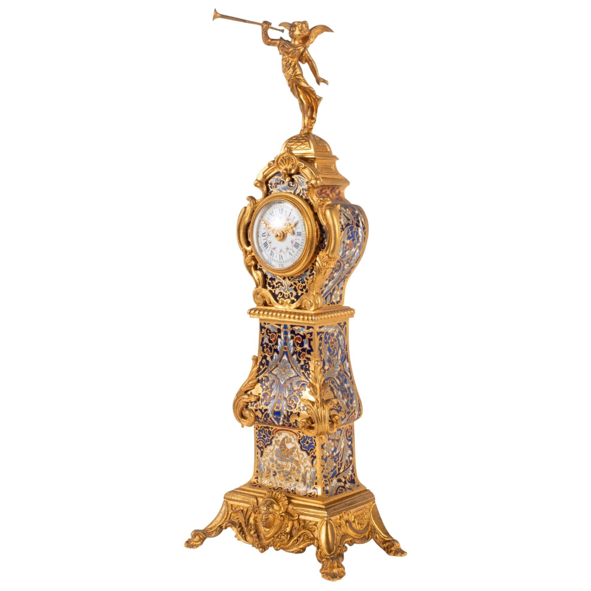 Late 19th Century Miniture French Longcase Clock High