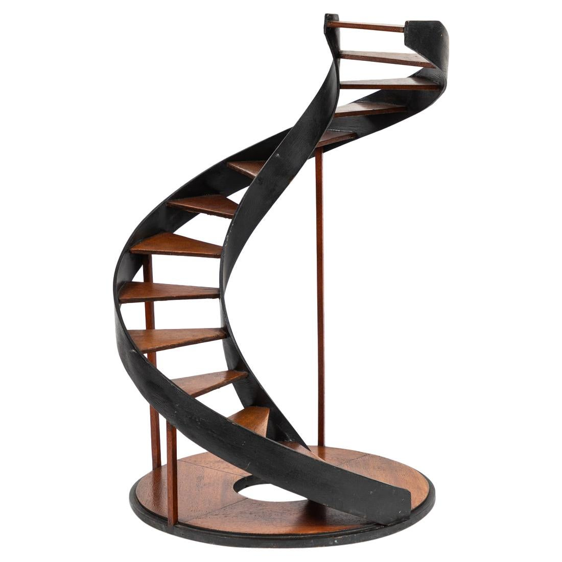 Late 19th Century Model of a Circular Staircase from France