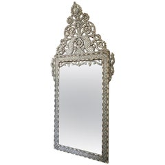 Late 19th Century Moroccan Bone Inlaid Mirror