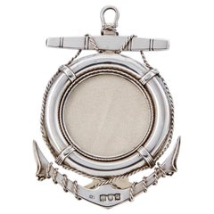 Late 19th Century Nautical Sterling Silver Frame by George Heath, London, 1896