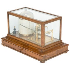 Late 19th Century Oak Cased Barograph