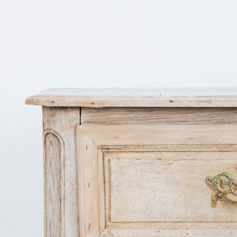 Brass Late 19th Century Oak Chest of Drawers For Sale