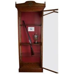 Late 19th Century Oak Gun Cabinet Complete with Rare Purdey Shotgun