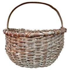 Late 19th Century Oak Splint Basket
