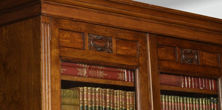 Late 19th Century Oak Two-Door Bookcase In Good Condition For Sale In Cheshire, GB