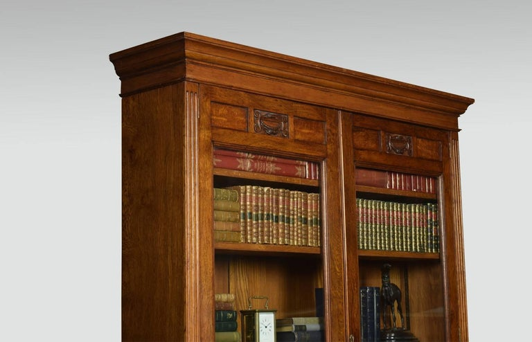 Late 19th Century Oak Two-Door Bookcase For Sale 2