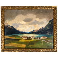 Late 19th Century Oil on Board Painting