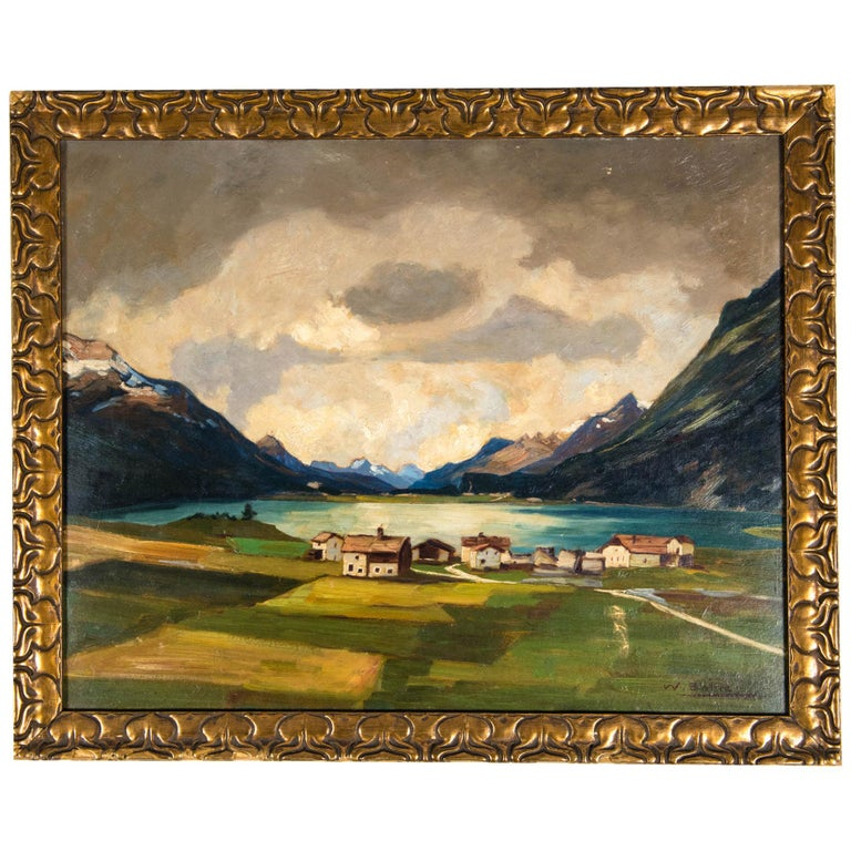 Late 19th Century Oil on Board Painting For Sale