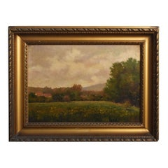 Late 19th Century Oil on Canvas Landscape by Paul Huet