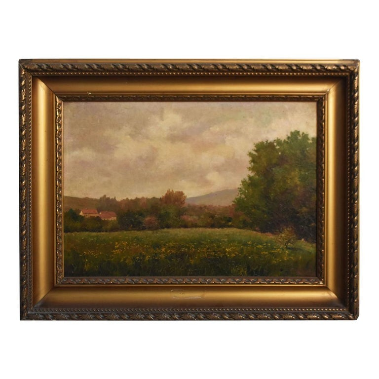 Late 19th Century Oil on Canvas Landscape by Paul Huet For Sale