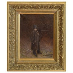 Late 19th Century Oil on Canvas of a High Style Gentleman in Giltwood Frame