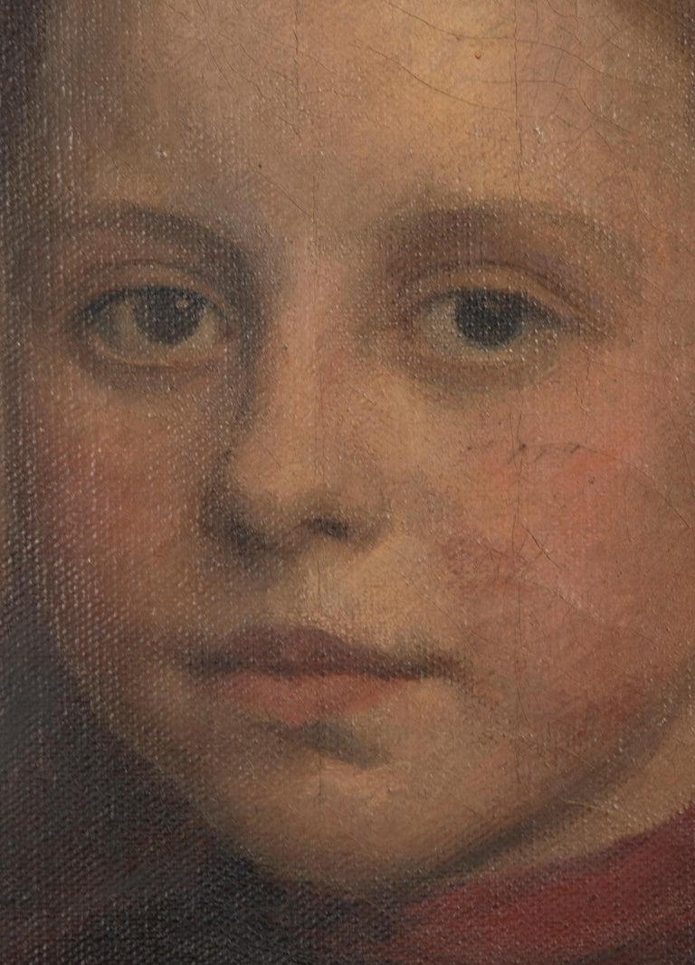 Late 19th Century Oil Painting Portrait Young Girl by Jeremie Delsaux For Sale 9