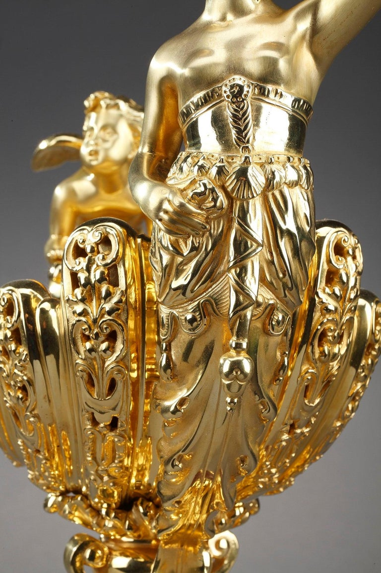 Late 19th Century Ormolu Cup Aurora and Cupid For Sale 3