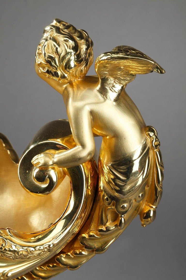 Late 19th Century Ormolu Cup Aurora and Cupid For Sale 11