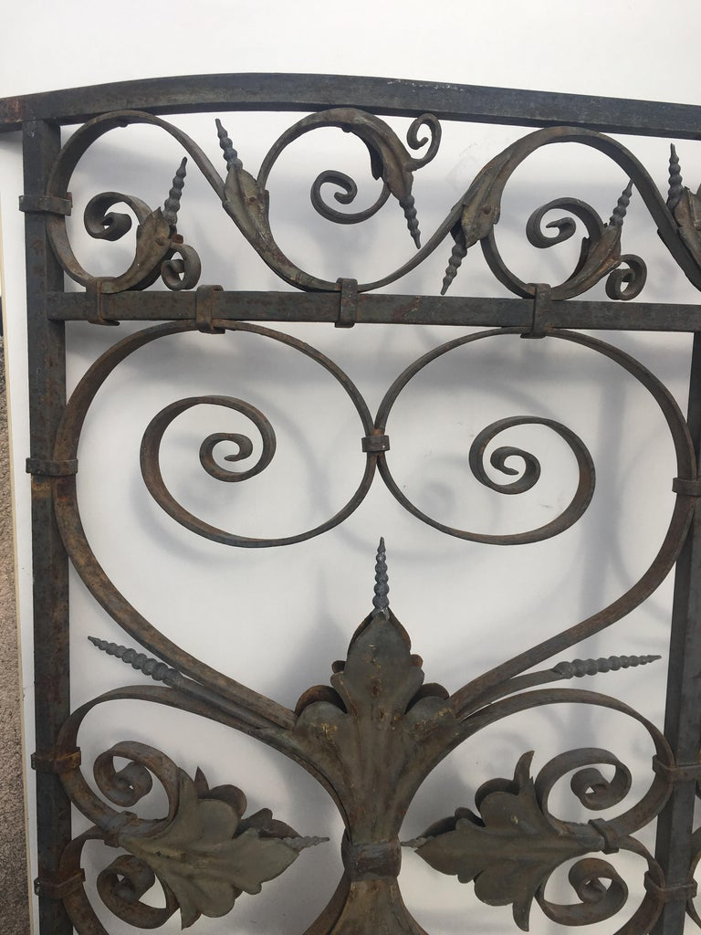 Late 19th Century Ornate Wrought Iron Grilles or Balcony Railing For Sale 5