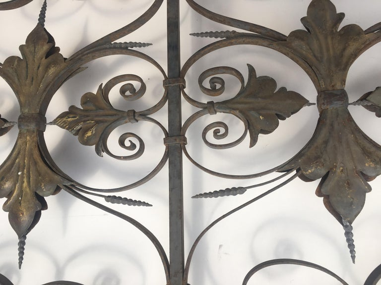 Late 19th Century Ornate Wrought Iron Grilles or Balcony Railing For Sale 1