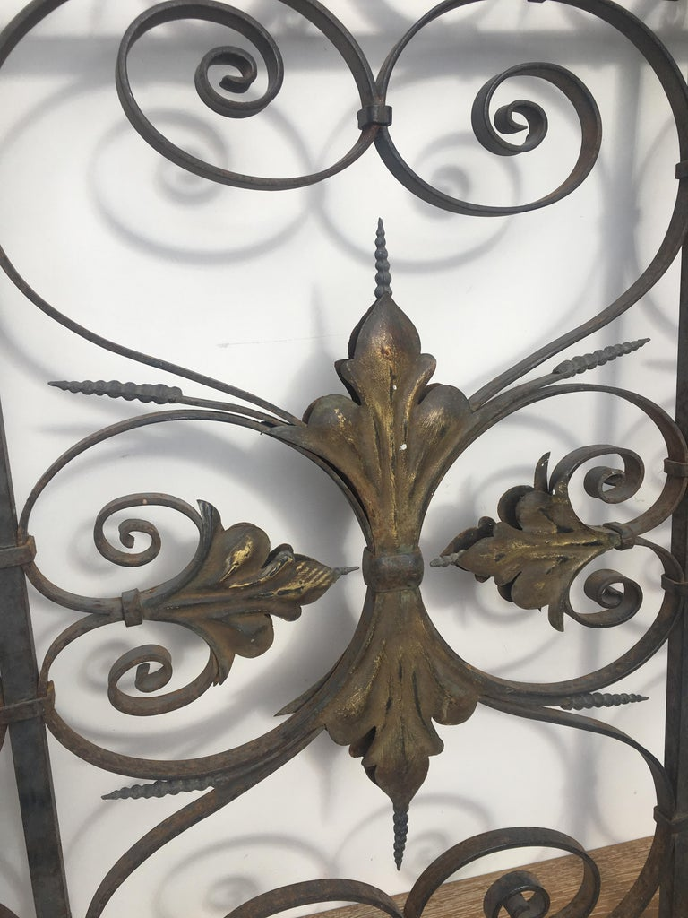 Late 19th Century Ornate Wrought Iron Grilles or Balcony Railing For Sale 2