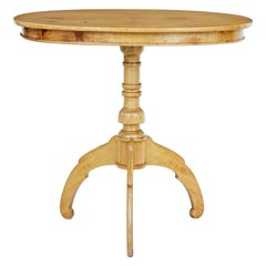 Late 19th Century Oval Birch Occasional Table