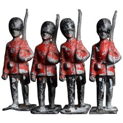 Late 19th Century over Sized English Lead Toy Soldiers