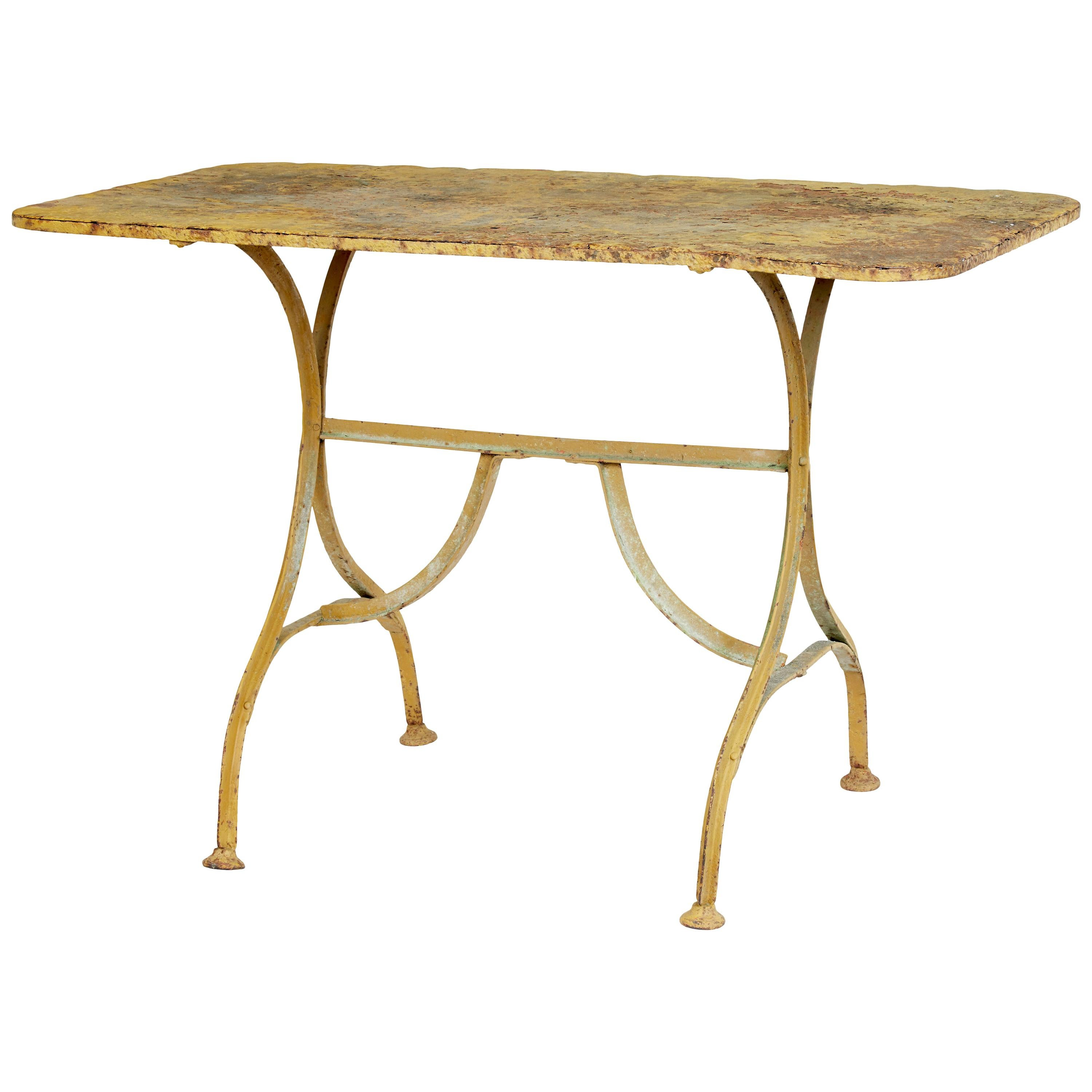 Late 19th Century Painted Cast Iron Garden Table