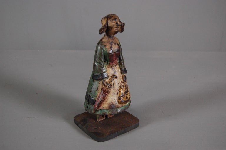 Late 19th Century Painted Cast Iron Money Box For Sale 1