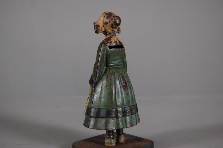 Late 19th Century Painted Cast Iron Money Box For Sale 2