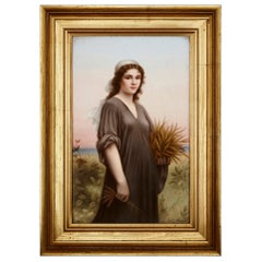 Late 19th Century Painted KPM Porcelain Plaque by Dittrich, after Landelle
