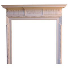 Late 19th Century Painted Pine and Composition Fire Surround