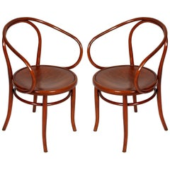 Late 19th Century Pair of Bentwood B-9 Armchairs by Jacob and Josef Kohn