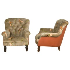 Late 19th Century Pair of Easy Chairs
