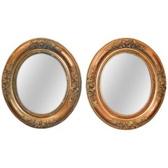 Late 19th Century Pair of French Water Gilded Mirrors