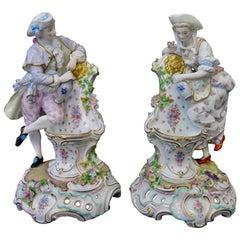 Late 19th Century Pair of Large Paris Porcelain Statues