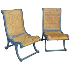 Late 19th Century Pair of Spanish Accent Chairs