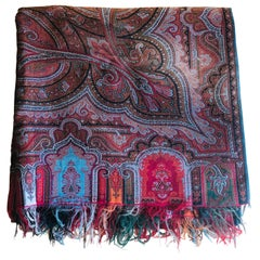 Late 19th Century Paisley Kashmiri Coverlet, Quilt or Shawl