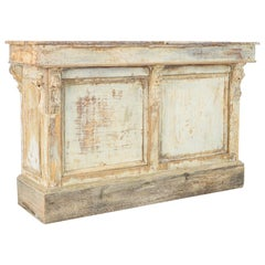 Late 19th Century Patinated Store Counter